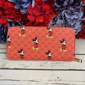 Red Mickey Mouse Clutch Wallet Checkbook